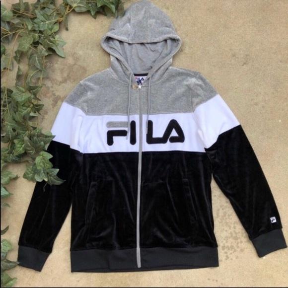 e616c7d2829 Fila Velour Color Block Jacket